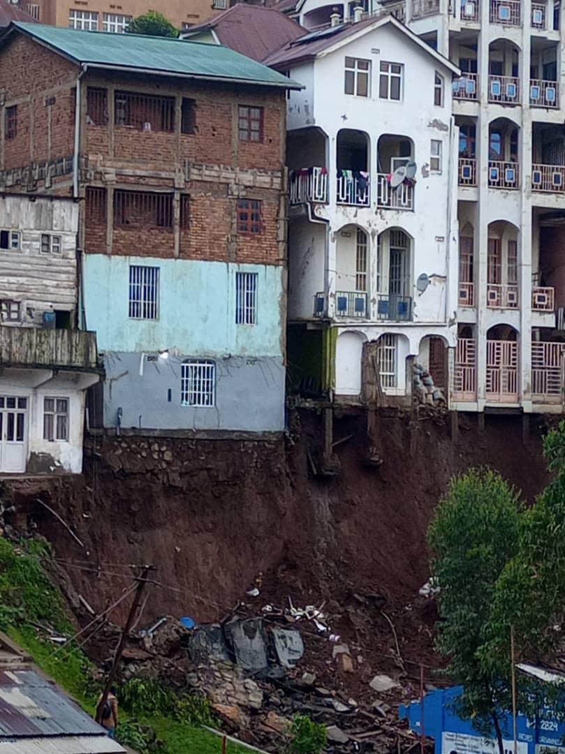 consequences des pluies dans la ville de Bukavu